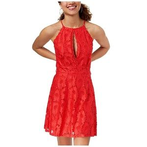 Material Girl Dress Cut Out Juniors Lace Fit Flare